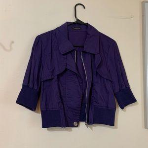 Violet cropped jacket